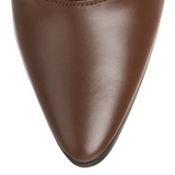 Marrom 7 cm VICTORIAN-120 Botinha Mulher Cano Curto com Cadarco