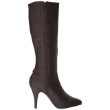 Marrom Imitação couro 10 cm DREAM-2030 numeros grandes botas mulher