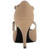 Marrom Imitação couro 10 cm DREAM-412 numeros grandes sandálias mulher