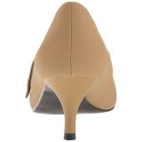 Marrom Imitação couro 6,5 cm KITTEN-03 numeros grandes scarpin mulher