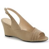 Marrom Imitação couro 7,5 cm KIMBERLY-01SP numeros grandes sandálias mulher