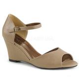 Marrom Imitação couro 7,5 cm KIMBERLY-05 numeros grandes sandálias mulher