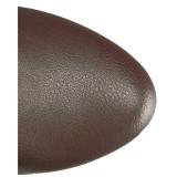 Marrom imitação couro 13 cm CHLOE-308 botas altas cano longo