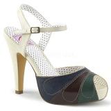 Multicolorido 11,5 cm retro vintage BETTIE-27 Pinup sandálias de plataforma oculta