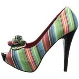 Multicolorido 13 cm LOLITA-12 sapatos scarpin aberto na frente