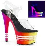 Multicolorido 18 cm ADORE-708UVLN Sandálias Plataforma Neon
