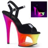 Multicolorido 18 cm MOON-709UV Sandálias Plataforma Neon