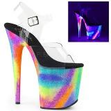 Multicolorido 20 cm FLAMINGO-808GXY Sandálias Plataforma Neon