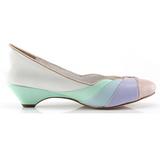 Multicolorido 4 cm retro vintage LULU-05 Pinup sapatos scarpin com saltos baixos