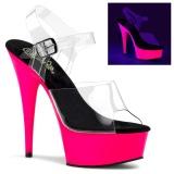Neon 15 cm Pleaser DELIGHT-608UV sapatos de saltos pole dance