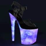 Neon 20 cm FLAMINGO-808REFL sapatos de saltos pole dance