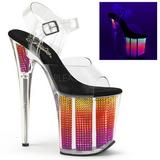 Neon 20 cm FLAMINGO-808SRS Sandálias Plataforma de Cristal