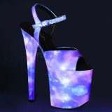 Neon 20 cm FLAMINGO-809REFL sapatos de saltos pole dance