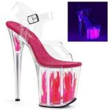 Neon 20 cm Pleaser FLAMINGO-808FLM sapatos de saltos pole dance