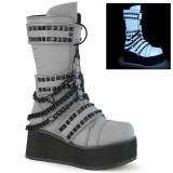 Neon 8,5 cm TRASHVILLE-138 botas demonia - botas plataforma unisex