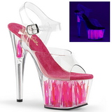 Neon Rosa 18 cm Pleaser ADORE-708FLM Salto Alto Plataforma