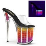 Neon Strass 20 cm FLAMINGO-801SRS tamancos mulher plataforma