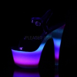 Neon brilho 18 cm Pleaser ADORE-709WR sapatos de saltos pole dance