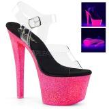 Neon brilho 18 cm Pleaser SKY-308UVG sapatos de saltos pole dance