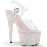 Opala brilho 18 cm Pleaser ADORE-708HMG sapatos de saltos pole dance