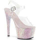 Opala brilho 18 cm Pleaser ADORE-708LG sapatos de saltos pole dance