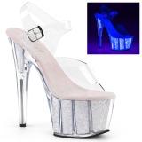 Opala brilho 18 cm Pleaser ADORE-708UVG sapatos de saltos pole dance