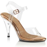 Ouro 10 cm CARESS-408 sandálias de salto alto mulher