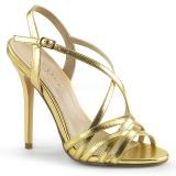 Ouro 13 cm Pleaser AMUSE-13 sandálias de salto alto mulher