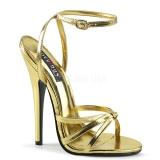 Ouro 15 cm Devious DOMINA-108 sandálias de salto alto mulher