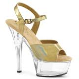 Ouro 15 cm KISS-209BHG Plataforma Sapatos Salto Alto