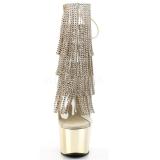 Ouro 18 cm ADORE-1017RSF botinha com franjas salto alto