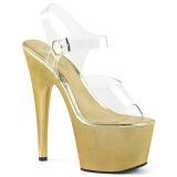 Ouro 18 cm ADORE-708HG Holograma plataforma salto alto mulher