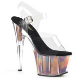 Ouro 18 cm ADORE-708HGI Holograma plataforma salto alto mulher
