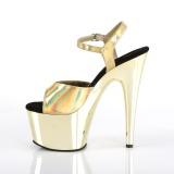 Ouro 18 cm ADORE-709HGCH Holograma plataforma salto alto mulher