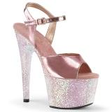 Ouro 18 cm ADORE-709LG Sapatos plataforma de salto glitter