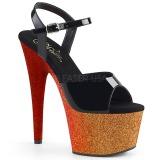 Ouro 18 cm ADORE-709OMBRE brilho plataforma sandálias mulher