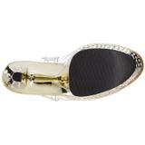 Ouro 18 cm Pleaser STARDUST-708 Saltos Altos Cromo Plataforma