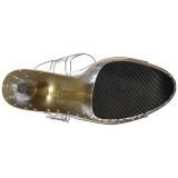 Ouro 20 cm STARDUST-808T Plataforma Sandálias Salto Agulha