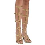 Ouro 8 cm ROMAN-10 sandália cano longo gladiadoras para mulher