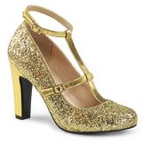 Ouro Brilho 10 cm QUEEN-01 numeros grandes scarpin mulher