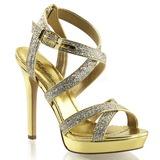 Ouro Brilho 12 cm LUMINA-21 sandálias para noite de gala