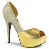 Ouro Brilho 14,5 cm Burlesque TEEZE-41W scarpin pés largos para homem