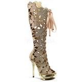Ouro Camurca 15 cm FANTASIA-2020 botas mulher com pedra cristal