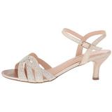 Ouro Cristal 6,5 cm AUDREY-03 sandálias para noite de gala