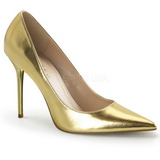 Ouro Fosco 10 cm CLASSIQUE-20 Scarpin Saltos Altos para Homens