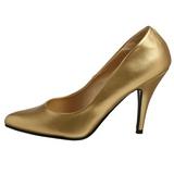 Ouro Fosco 10 cm VANITY-420 Sapatos Scarpin Femininos