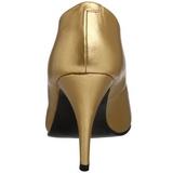 Ouro Fosco 10 cm VANITY-420 Scarpin Saltos Altos para Homens