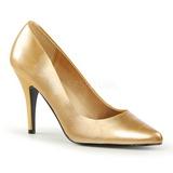 Ouro Fosco 10 cm VANITY-420 scarpin de bico fino salto alto