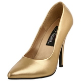 Ouro Fosco 13 cm SEDUCE-420 Sapatos Scarpin Femininos