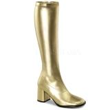 Ouro Fosco 8,5 cm GOGO-300 Botas Mulher para Homens
